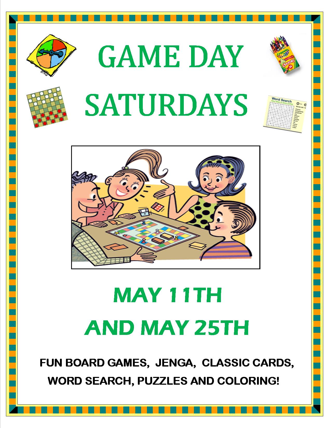 Game Day Saturday May 2019