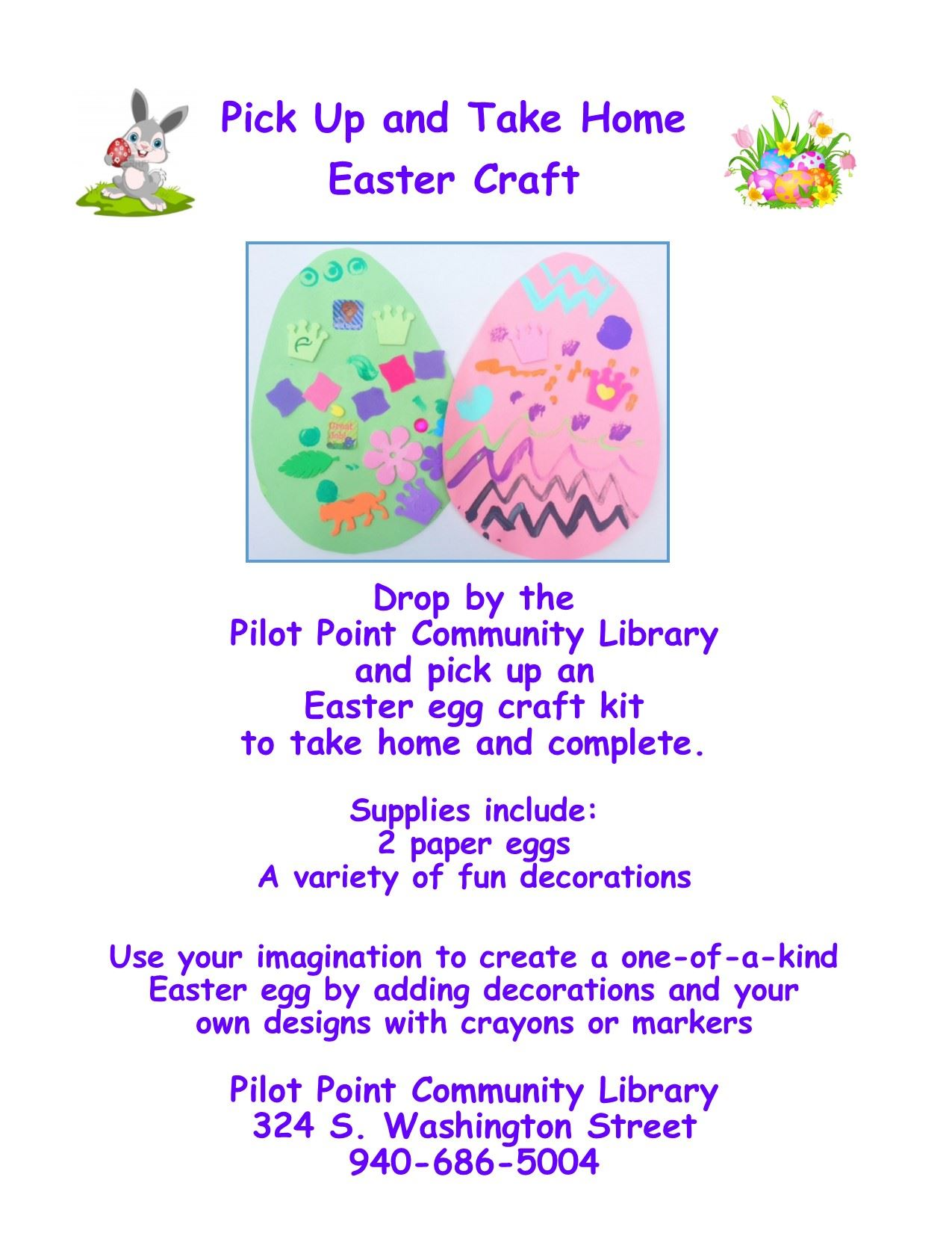 Spring.easter craft flier